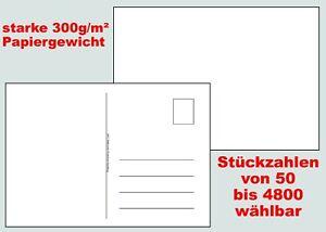 Blanko-Postkarten DIY DIN A6 weiss Adressfeld selber gestalten basteln malen