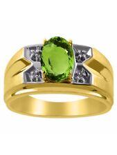 Diamond & Peridot Ring 14K Yellow or 14K White Gold MR3002PEY-C