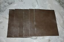 Scrap leather Genuine Cowhide Light Brown 6 pieces 8x6 inches