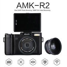 AMKOV AMK-R2 24MP 1080P HD Digital SLR DSLR Camera 4X Zoom With Wide-angle Lens