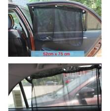 2pcs 75x52cm Adjustable Car Window VIP Mesh Style Anti-UV Curtain Sunshade Visor