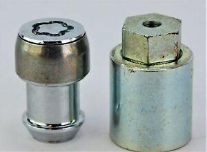 New OEM 52013752AA Genuine Mopar Lock Key & locking Lug Nut Set Wheel