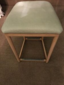 Vintage John Saladino Specified Leather Top Perching Stool