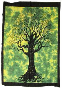 Batiktuch BAUM 110x75 cm TREE OF LIFE Lebensbaum Weltenbaum Wandbehang Stofftuch