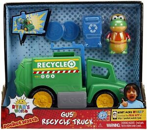 RYAN'S WORLD Gus Recycle Truck Vehicle Playset with Gus Figure