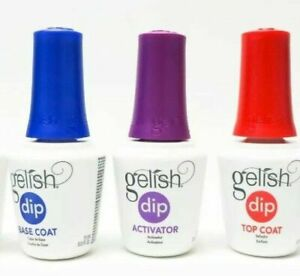 Gelish Dip Essential Liquid 3pcs (Top,Base,Activator) - 0.5 oz bottle