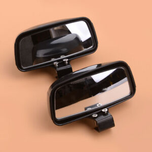 1Pair Black Universal Blind Spot Wide Angle Rearview Mirrors For Car Truck