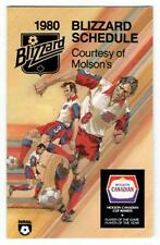 TORONTO BLIZZARD soccer ~ 1980 Pocket Schedule ~ FREE SHIPPING