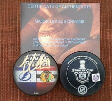 SIGNED TAMPA BAY LIGHTNING VICTOR HEDMAN 2015 STANLEY CUP FINALS HOCKEY PUCK COA
