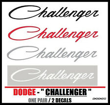"Dodge Challenger Graphic Vinyl Decals ONE PAIR 1"" x 5.625"" RT SRT Free Shipping"