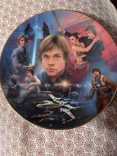 Luke Skywalker Hamilton Collection Portrait Collage Plate 1996 Lucas Film