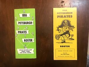 ROSTERS  PITTSBURGH PIRATES  MEDIA GUIDES  THE CLEMENTE YEARS 1955 ROOKIE YEAR