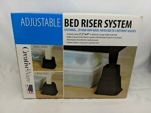 CREATIVEWARE ADJUSTABLE BED RISER SYSTEM-RAISES BED TO 3 DIFFERENT HEIGHTS