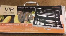 e3385500d98 NEW BBQ VIP GRILL MASTER COOKOUT GEAR 21 PIECE STAINLESS STEEL UTENSIL SET  KIT