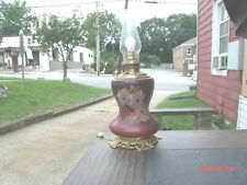 Converted Oil to Electric Gone With The Wind Style Lamp Hand Painted