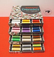 (3,69/Km) ACKERMANN STICKGARN-BOX 72 Farben 40er Qualitätsstickgarn á 260meter