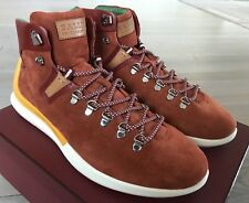 700$ Bally Avyd Navy Rust Suede High Tops Sneakers size US 10.5 Made in Italy