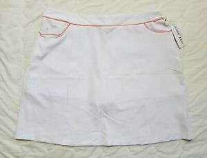 1 NWT CATHERINE WINGATE WOMEN'S SKORT, SIZE: 12, COLOR: WHITE/PINK (J186)