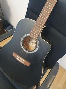 Art & Lutherie AMI Cedar Parlor Acoustic Guitar Gitarre mit Tasche