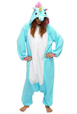 KIMU Onesie unicorn blue costume XS-S pajamas kigurumi fancy dress eenhoorn pak