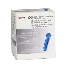 100 Beurer Sterile Nadel - Lanzetten Stechhilfe Nadellanzetten Blutzucker Steril