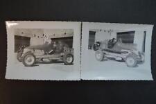 2 Vintage Car Photos Dirt Track Racing Car  931015