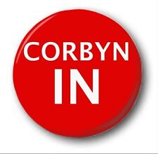"CORBYN IN  - 25mm 1"" Button Badge - Novelty Election Brexit Labour"