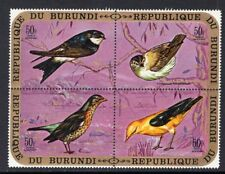 Birds Burundi 1971 50Fr Se-tenant Block of 4 MNH CV$47