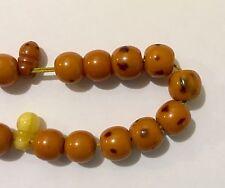Bakelite Prayer Beads Damari Veined Butterscotch 33.3g Vintage 33+ Worry Beads