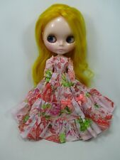 Blythe Outfit Handcrafted long sleeve dress basaak doll # 790-71