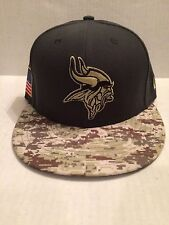 Minnesota Vikings New Era 59Fifty NFL 2016 Salute to Service Fitted Hat 7 NWT