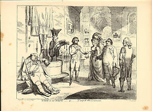 1873 james gillray ( the caricaturist ) print.wife and no wife !