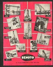 """PARIS (XVI°) GRUES & BENNES """"BENOTO"""" Tract Publicitaire"""
