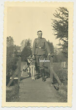 PHOTO SOLDAT AVEC CHIEN WEHRMACHT 2.wk 1941 (9576)