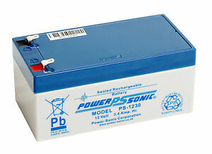 PS-1230 Power-Sonic 12 volt 3.4Ah Rechargeable Lead Acid 12 V PS1230 Battery