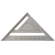 Empire RAFTER SQUARE 4.8mm Thick Aluminium,Mark/Cuts Boards Upto 178mm *USA Made