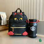 New 2021 China Starbucks Halloween 12oz SS Vacuum Cup With Black Cat Backpack