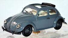 VW Volkswagen Escarabajo brezelkäfer BEETLE + SUNROOF 1950 gris 1:43 Vitesse