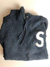 Supreme S Logo Hoodie Large Navy Blue Sweatshirt Box Logo
