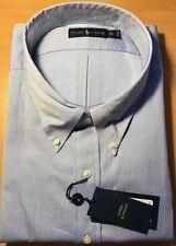 "GENUINE Polo Ralph Lauren Mens BIG AND TALL Blue Dress Shirt collar size 22"""