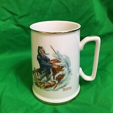 "1985 Norman Rockwell Seafarers Collection Mug Stein Tankard ""Braving the Storm"""