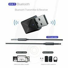 2 in 1 USB Bluetooth 5.0 Trasmettitore Ricevitore AUX Audio Adattatore Cuffie PC