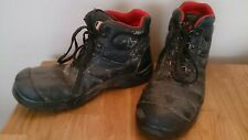 Men's Steel Toe Capped Black Safety Used Work Boots - Size 9 UK