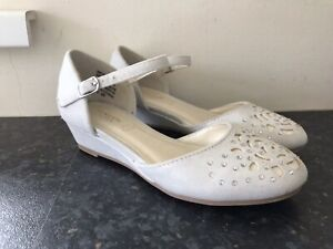 Girls Monsoon Diamante Shimmer Shoes Size 10