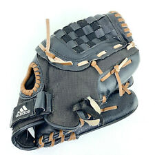"""adidas 3 Stripe Black Brown 12"""" Right Handed Youth Baseball Glove - GREAT SHAPE"""