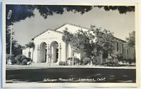 Livermore CA Veterans Memorial Picture RPPC Postcard Real Picture Rare Card