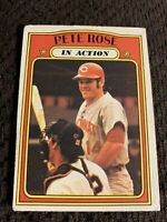 1972 Topps Pete Rose in Action #560 Vintage Baseball Card. Centered Nicely