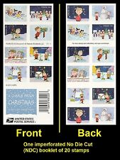 US 5030d A Charlie Brown Christmas imperf NDC booklet 20 MNH 2015