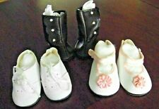 """3 PAIR BOOTS, OXFORD SCHOOL SHOES, PARTY SHOES FIT 18"""" DOLLS & AMERICAN GIRL"""