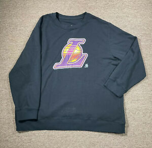 Los Angeles Lakers Pullover Sweatshirt Men's 4XL Relaxed Black Graphic Logo NBA